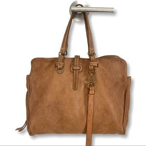 Costanza Rota Italian Leather Zip Messenger Bag